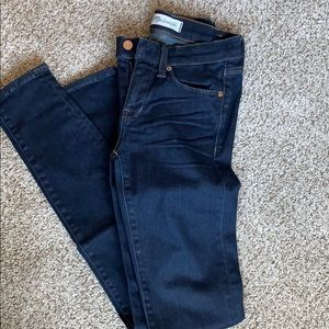 Madewell skinny skinny jeans. Size 24. Dark rinse.